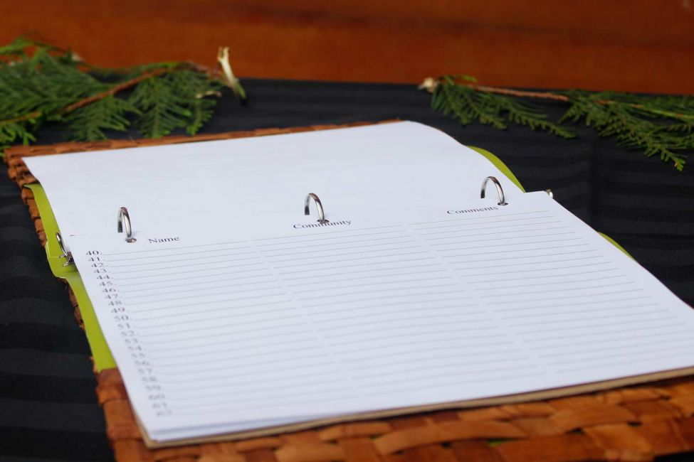 Naming Ceremony Guest Book